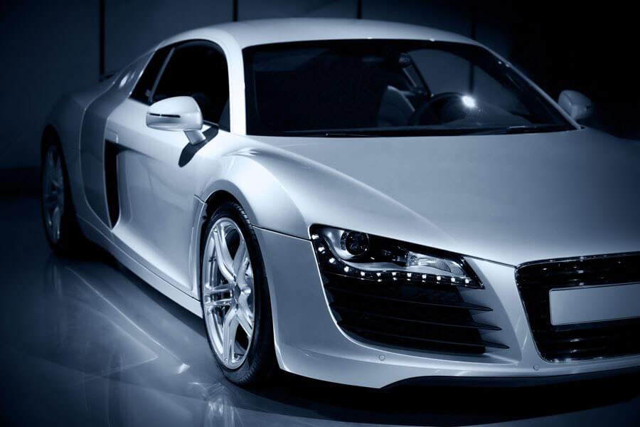 An Audi luxury sports car freshly tinted.