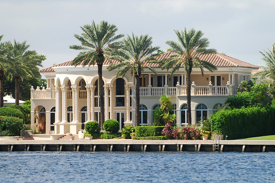 Mansion on Bird Key that got all of it's windows tinted to keep the house cool.